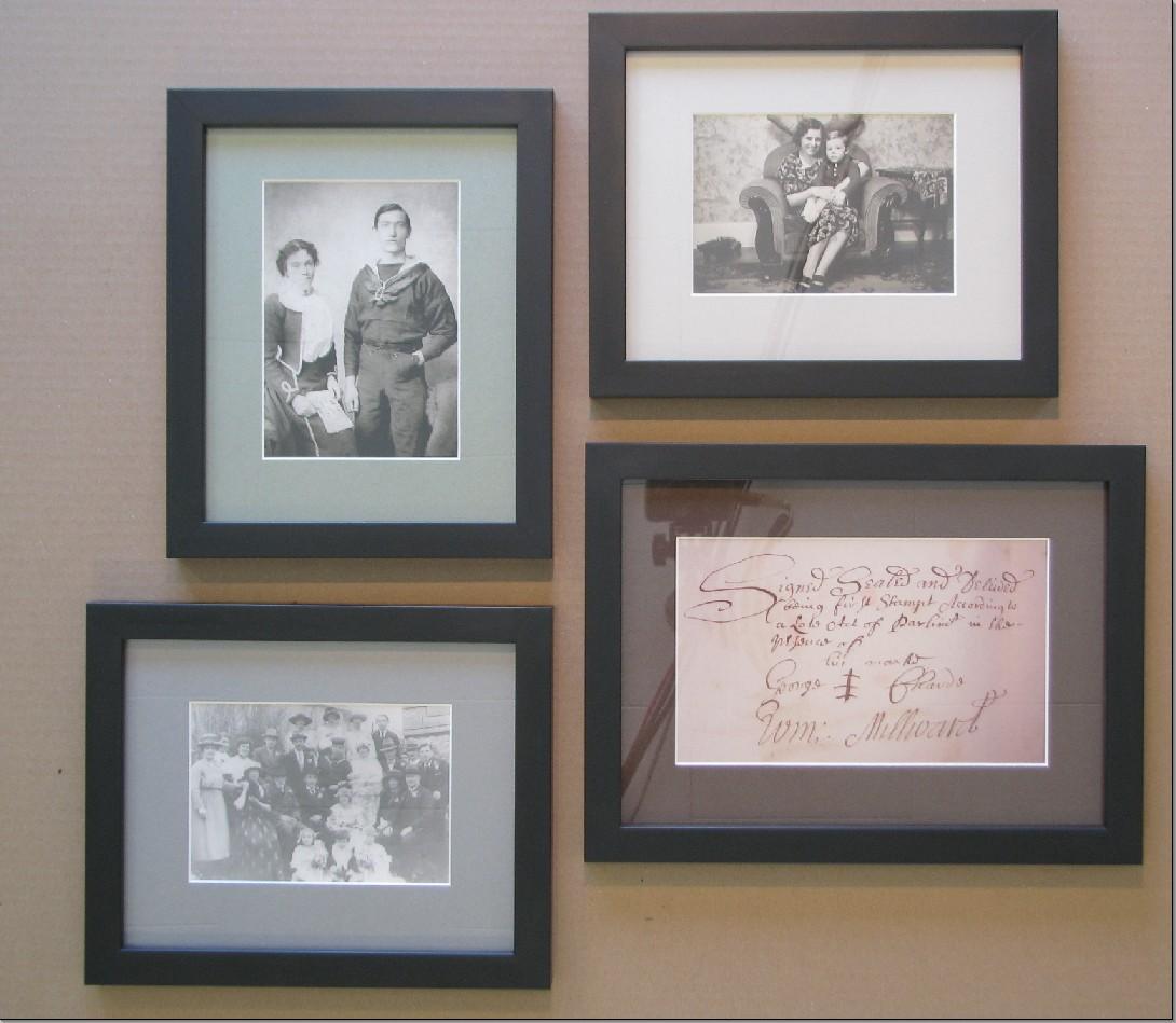 Ancestor Frame Wall Walkerworks Picture Framing