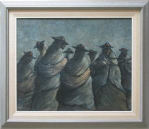 Bolivia Painting original frame