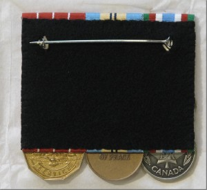 Medals finished back side